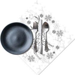 kerstdecoratie servetten TIMI zwart