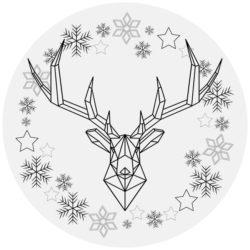 kerstdecoratie zelfklevend behangcirkel ZIAS