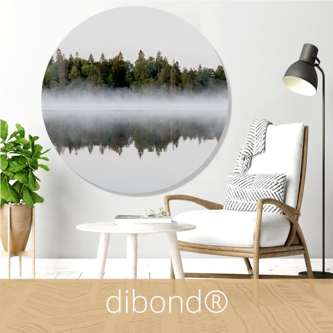 ronde wanddecoratie dibond muurcirkel