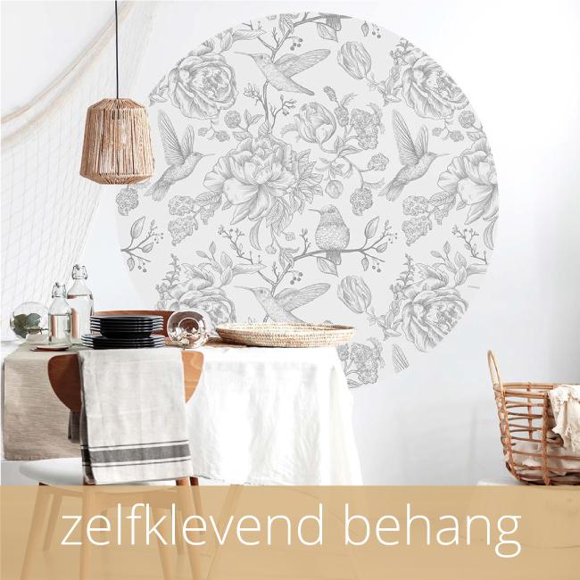 ronde wanddecoratie zelfklevend behangcirkel