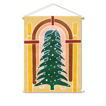 textielposter I LOVE CHRISTMAS TREE
