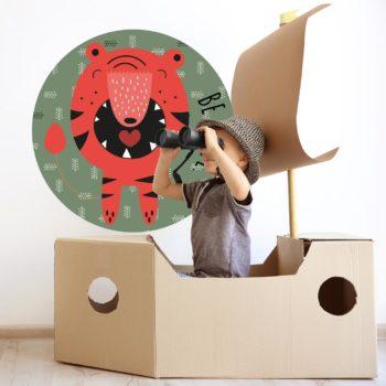 kinderkamer decoratie zelfklevend behangcirkel ZEKI en forex muurcirkel ALEC