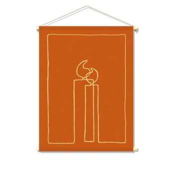 textielposter-ONE-LINE-XMAS-CANDLES