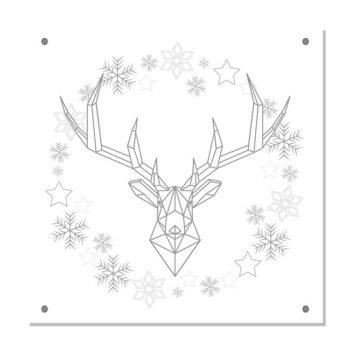 kerstdecoratie tuinposter-IN-THE-SNOW-zilvergrijs-site