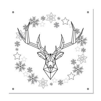kerstdecoratie tuinposter-IN-THE-SNOW-zwart