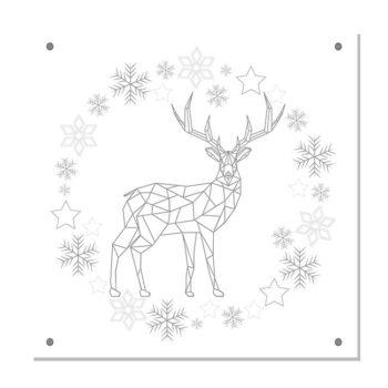 kerstdecoratie tuinposter-IVY-zilvergrijs