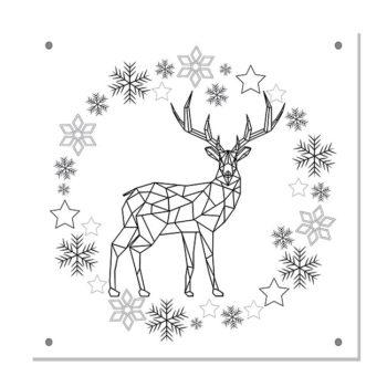 kerstdecoratie tuinposter-IVY-zwart