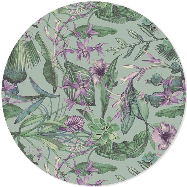 FOREX-muurcirkel-ALICIA-lila en dibond cirkel DOUTZEN lila