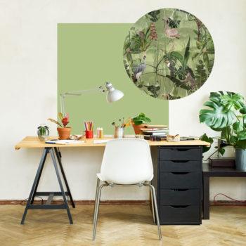 zelfklevend-behang-ZERO en behangpanelen BERND -fris-groen