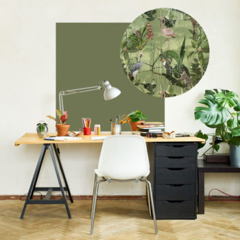 zelfklevend-behang-ZERO en behangpanelen BERND-olijf-en-fris-groen