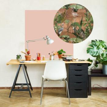zelfklevend-behang-ZERO en behangpanelen BERND-roze-soft-rust