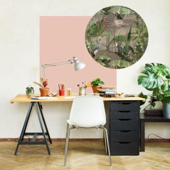 zelfklevend-behang-ZERO en behangpanelen BERND-roze-taupe
