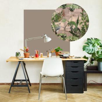 zelfklevend-behang-ZEROen behangpanelen BERND -taupe-roze