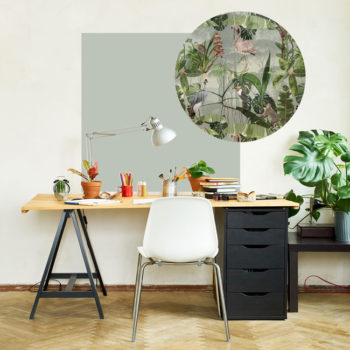 zelfklevend-behang-ZERO en behangpanelen BERND-zacht-groen