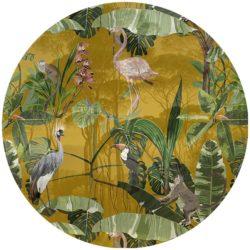zelfklevend-behang-cirkel-ZANO-oker