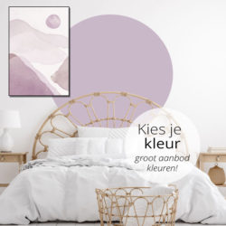 zelfklevend-behang-cirkel-ZILVIO en behangcirkel BOJO-uni-Kies-je-kleur