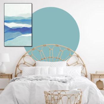 zelfklevend-behang-cirkel-ZILVIOen behangcirkel BOJO -uni-aqua