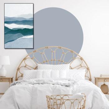 zelfklevend-behang-cirkel-ZILVIO-uni en behangcirke BOJO-ijsblauw