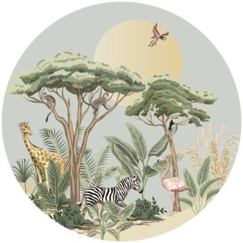 zelfklevend-behang-cirkel-ZOO-uni-achtergrond-zachtgroen