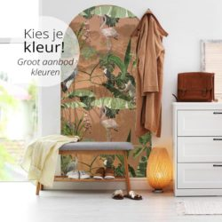 zelfklevend-behang-muurboog-ZIA en behangpaneel BUZA-terracotta-Kies-je-kleur