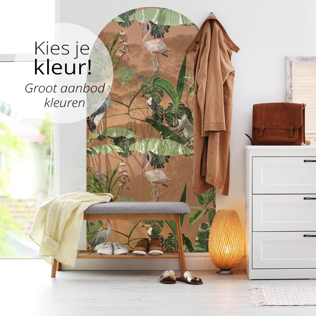 zelfklevend-behang-muurboog-ZIA en behangpaneel BUZA-soft-rust-Kies-je-kleur