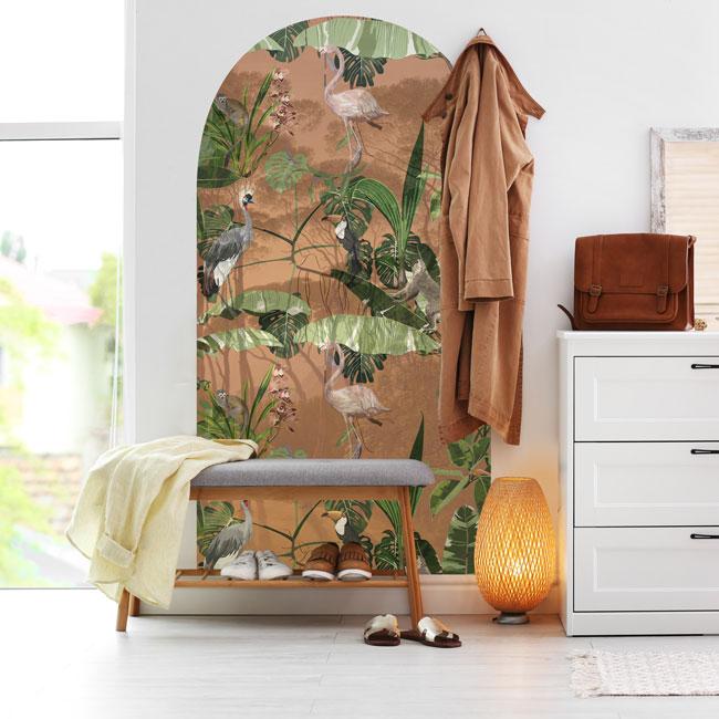 zelfklevend-behang-muurboog-ZIA en behangpaneel BUZA