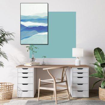 zelfklevend-behang-vierkant-ZITA en behangpaneel BOBBY -uni-aqua-setting