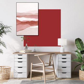 zelfklevend-behang-vierkant-ZITA en behangpaneel BOBBY -uni-lava-setting