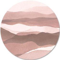Dibond-cirkel-DANIEK-roze en taupe