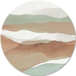 Dibond-cirkel-DANIEK-zacht-groen