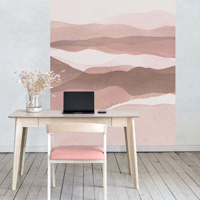 behangpaneel-BABEZ-roze en taupe