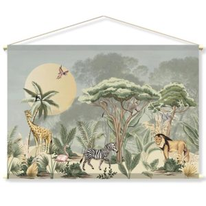textielposter-PARSA-zachtgroen-met-parasoldennen