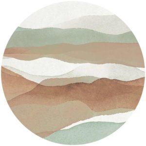zelfklevend-behang-cirkel-ZUSHI-zachtgroen-en-soft-rust