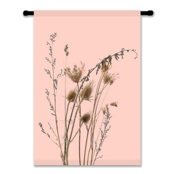 WANDDOEK-katoen-WILD-roze