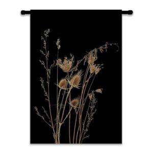 wanddoek-WILD-zwart