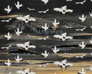 behang-KRAANVOGELS-ivory-black