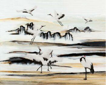 behangpaneel-KRAANVOGELS-original-nature