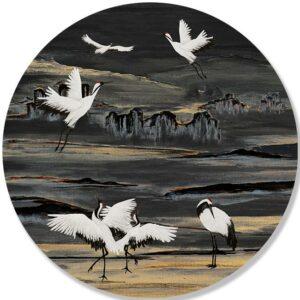 dibond-cirkel-KRAANVOGELS-ivory-black